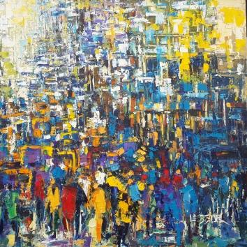 Breaking point 48in x 48in Oil Canvas