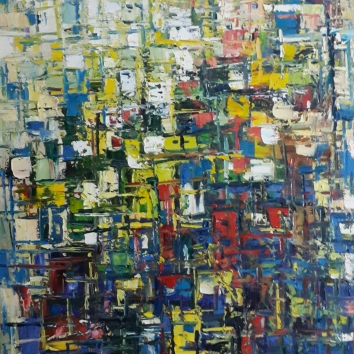 City Mirage Series [1] ~ 40 x 30 Inches ~ Oil on Canvas