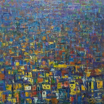 City Mirage Series [2] ~ 40 x 30 Inches ~ Oil on Canvas